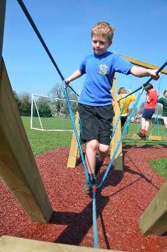 Trim Trail in action during P.E